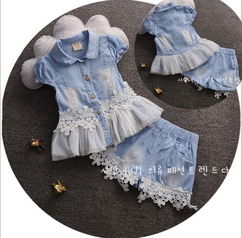 BG169 - Bộ quần áo giả bò pha ren cho bé 1t - 4t (10kg - 16kg)