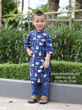 Áo dài cách tân đẹp cho bé trai.CTBT01