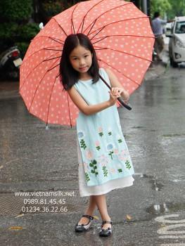 Áo dài cách tân cho bé gái.MH03 (May đo)
