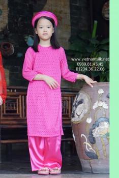Áo dài ren truyền thống cho bé gái (AT.R162)