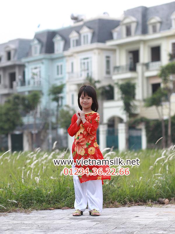 áo voan lụa cho trẻ em gái