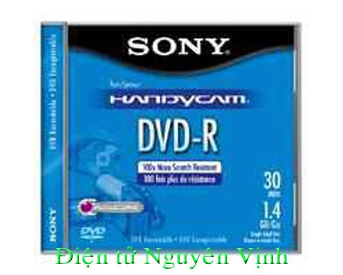 ĐÍA  SONY DVD-R  MINI CHO HANDYCAM(1.4GB/100X/30)