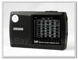 ĐÀI RADIO ĐA BĂNG TẦN AM/ FM/ SW DEGEN DE-321 SÓNG KHỎE