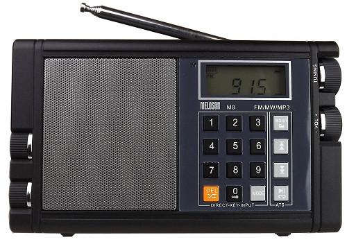 ĐÀI RADIO NGHE NHẠC  MP3 MELOSON M8 -thương hiệu Mỹ