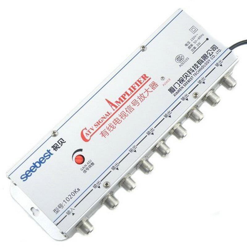 Bộ khuyếch đại tín hiệu cáp , bộ kích sóng tivi 8 cổng SEEBEST SB-1020K8 20Db
