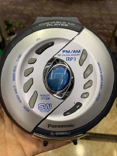 MÁY NGHE ĐĨA CD WALKMAN ,  MÁY CD CẦM TAY CHỐNG SHOCK PANASONIC SL-SW963VJ