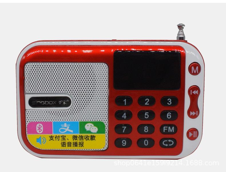 ĐÀI FM MP3 BLUETOOTH  NGHE NHẠC MINI QG-207BT ( rất nhỏ gọn)