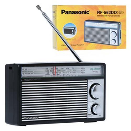 ĐÀI RADIO 3 BĂNG PANASONIC RF-562DD2 NEW hỗ trợ cổng cắm nguồn ( không kèm theo)