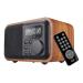 ĐÀI FM BÁO THỨC , BLUETOOTH ,USB , TF card , VỎ GỖ LOCI D-90