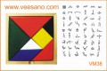 Trò chơi tangram trí uẩn (màu sắc) VM38