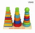 Bộ xếp hình khối 3 tháp VM48