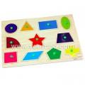Bảng ghép hình có núm VDN01 - Các loại hình khối giúp bé nhận biết màu sắc