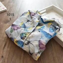 1015. Áo khoác gió NMDG hình hoa và bướm - 906akf