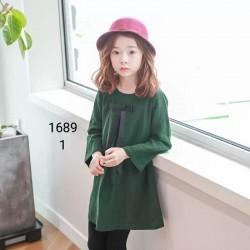 1689. Váy thô Hàn Quốc màu xanh - 338vak