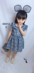 00012. Váy Hàn Quốc kẻ caro