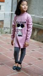 2711. Áo len Hàn Quốc dáng dài  SIZE ĐẠI dệt hình cô gái - 966alk