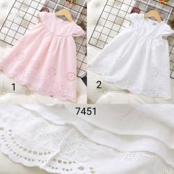 7451. Váy thô Next ren trắng hồng