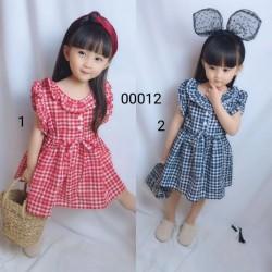 00012. Váy Hàn Quốc kẻ caro cute