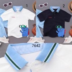 7642. Áo phông polo Katofely cổ màu