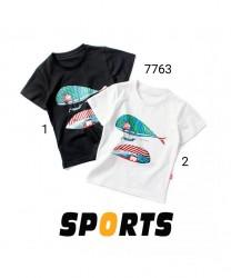 7763. Áo phông Hàn Quốc hình cá heo