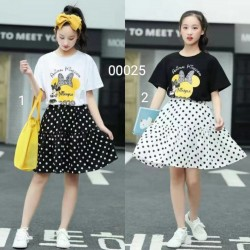 00025. Bộ chuột Minie  Set gồm áo phông và chân váy