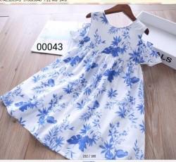 00043. Váy Hàn Quốc tông màu hoa xanh