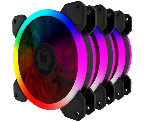 COMBO 3 FAN TẢN NHIỆT RGB FORGAME COLOURED GLAZE (KÈM ĐIỀU KHIỂN)