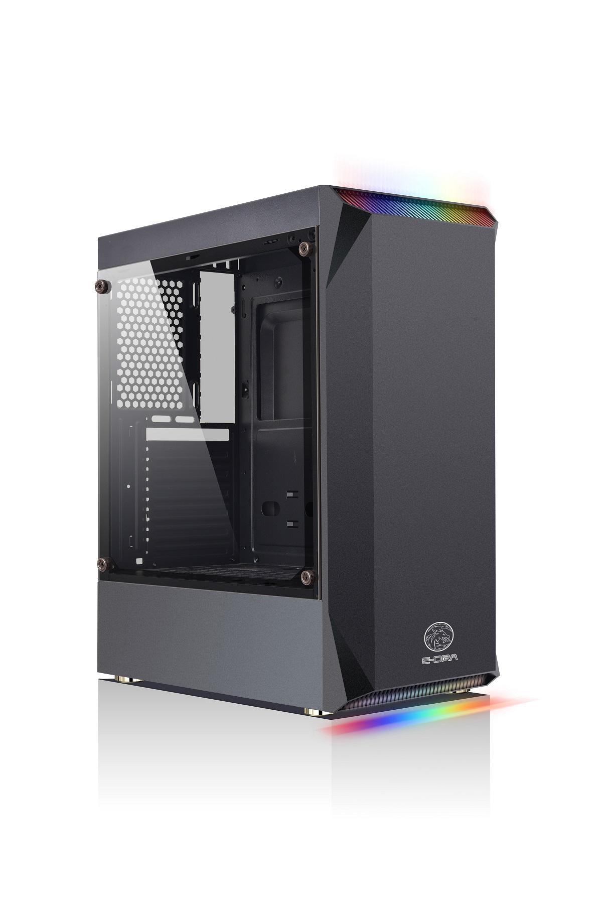 Case máy tính E-DRA Shadow Phoenix ECS1301 - Đen