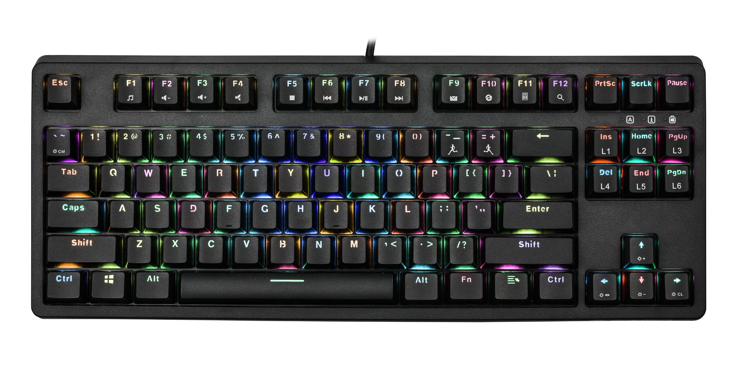 Bàn phím chơi game cơ E-DRA EK387 RGB TKL