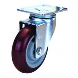SWIVEL PU CASTER RED