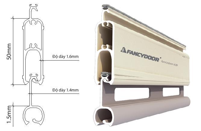 Fancydoor 439 cửa cuốn siêu thoáng siêu êm giảm chấn 2 chiều