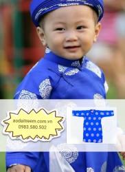 Áo dài trẻ em cho bé trai gấm Thái Tuấn XCB