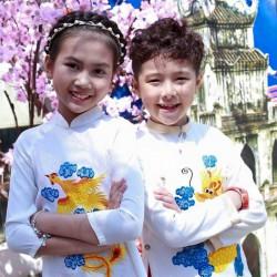 Áo dài đôi cho bé Phượng Hoàng & Rồng Thăng Long