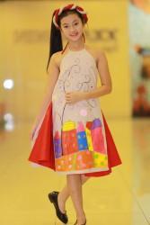 Áo dài yếm da cho bé gái