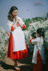 Áo dài mẹ & bé Tấm cám Suri