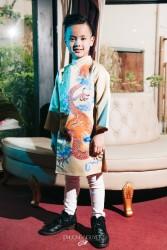 Áo dài trẻ em mẫu cách tân cho bé trai BT1706