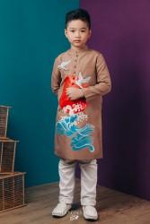 Áo dài trẻ em mẫu cách tân cho bé trai BT1701