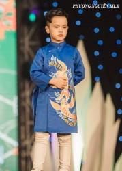 Áo dài trẻ em mẫu cách tân cho bé trai BT1711