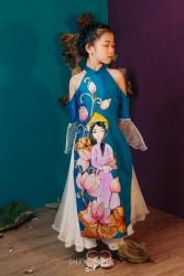 Áo dài trẻ em mẫu cách tân cho bé gái BGTV1702