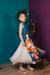 Áo dài trẻ em mẫu cách tân cho bé gái BGTV1703