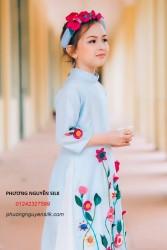 Áo dài trẻ em mẫu cách tân cho bé gái BG1710