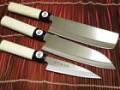 Dao thái cao cấp cán gỗ hoa văn (lưỡi nhọn)