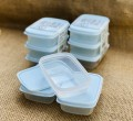 Set 3 hộp nhựa nắp dẻo 150ml (màu xanh Mint)