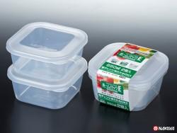 Set 2 hộp nhựa 650ml màu trắng