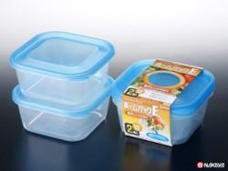 Set 2 hộp nhựa 650ml màu xanh