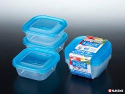 Set 3 hộp nhựa 380ml màu xanh