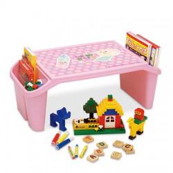 Bàn nhựa cho trẻ em màu hồng