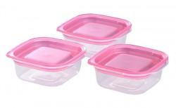Bộ 3 hộp nhựa đựng đồ ăn dặm cho bé 90ml
