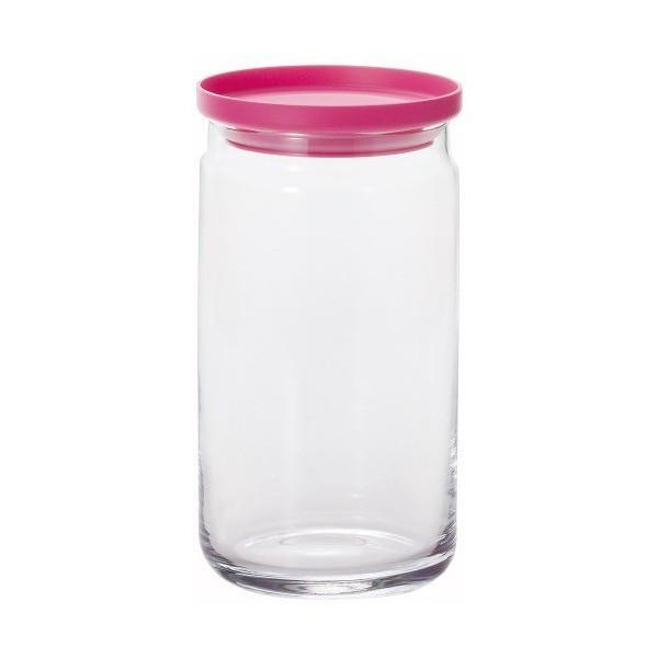 Bình thủy tinh cao cấp 1,1L nắp hồng