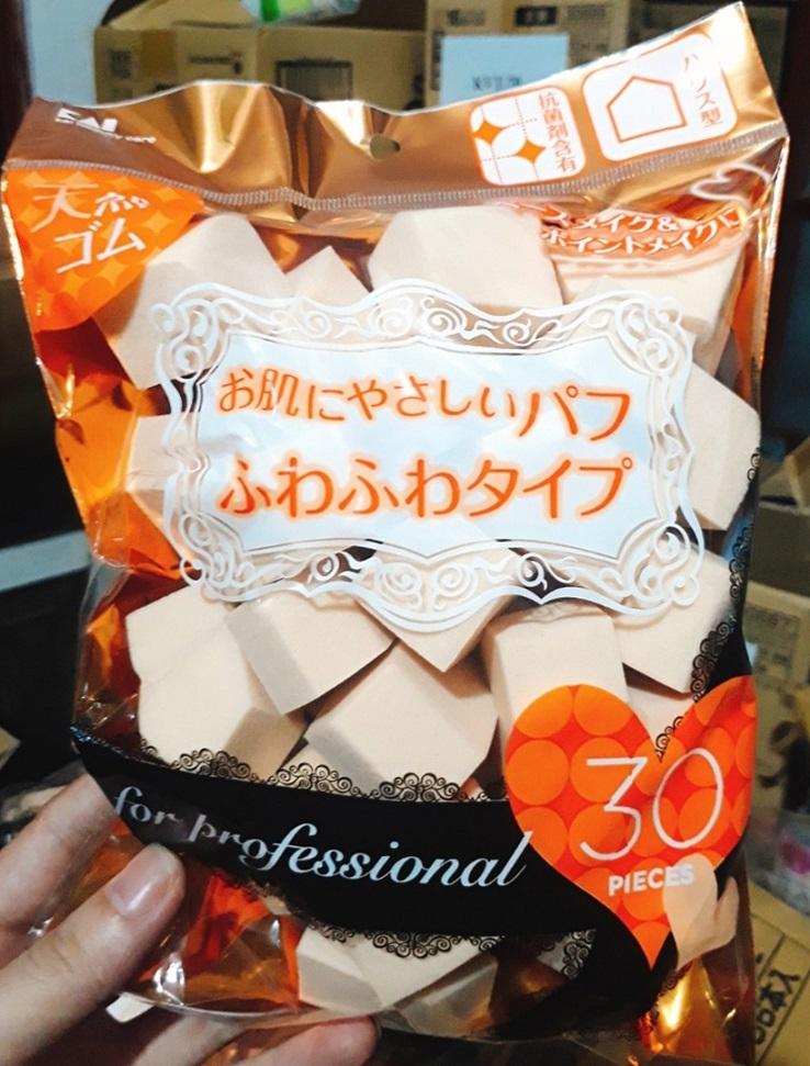 Túi 30 bông phấn trang điểm KAI